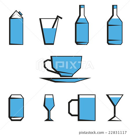 beverages icon set 22831117