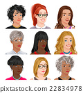 Different female avatars 22834978