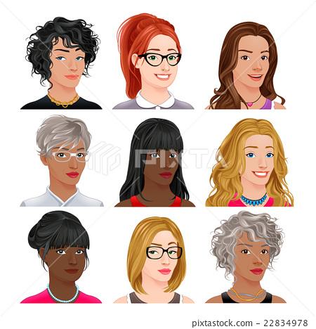 Different female avatars 22834978
