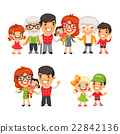 family, vector, child 22842136