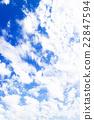 藍天天空雲彩初夏天空背景材料6月 22847594