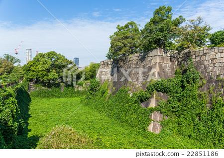 Osaka castle wall 22851186