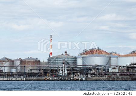 Stock Photo: Oil tank in seaside