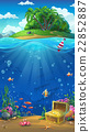 Island in the ocean - vector illustration 22852887