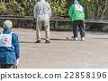 The elderly who enjoys the gateball 22858196
