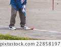 The elderly who enjoys the gateball 22858197