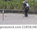 The elderly who enjoys the gateball 22858198