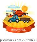 harvester, harvesting, farming 22860633