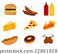 fast food set vector 22861928