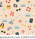 Seamless summer flat pattern 22863320