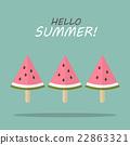 Watermelon fruit ice cream 22863321