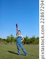 야구를하고 노는 여자 22867294