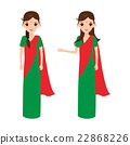 Indian woman character. Indian people. 22868226