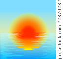 vector sunset in the sea 22870282