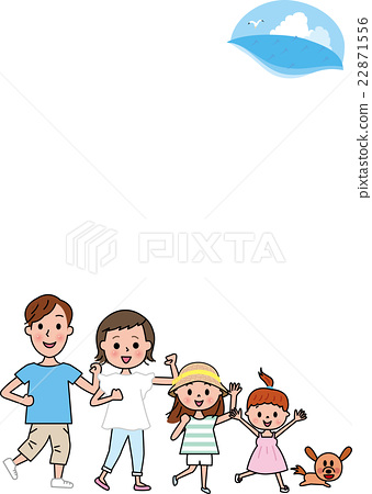 Family summer vacation with pets 22871556