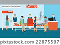 Businesspeople in airport terminal,security check. 22875597