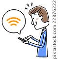 イラスト素材:スマートフォンを操作する男性 22876222