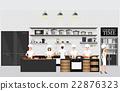Chefs cooking at restaurant kitchen interior. 22876323