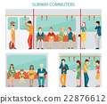 Commuters subway design. 22876612