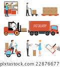 Delivery person freight logistic business. 22876677
