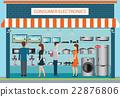 Electronics store design. 22876806