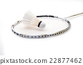 new shuttlecock and racket isolated 22877462