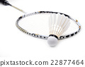 new shuttlecock and racket isolated 22877464