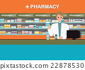 Male pharmacist at the counter in a pharmacy shop 22878530
