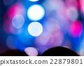 Defocused entertainment concert lighting on stage 22879801