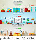Three Travel and Tourism Headers, Banners.  22879948