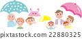 umbrella, brolly, family 22880325