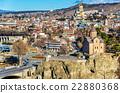 Aerial view of Tbilisi, Georgia 22880368