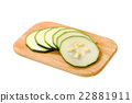 sliced fresh zucchini 22881911