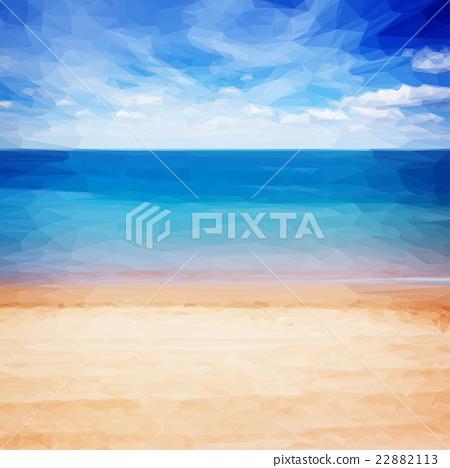 sea shore with blue sky 22882113