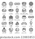 line icon set of world best desserts and sweets 22883853