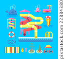 illustration set elements water park 22884380