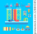 illustration set elements water park 22884385