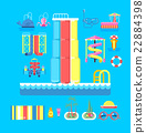 illustration set elements water park 22884398