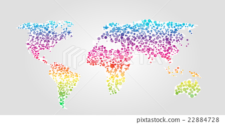 World map vector illustration in dots style stock illustration world map vector illustration in dots style gumiabroncs Image collections