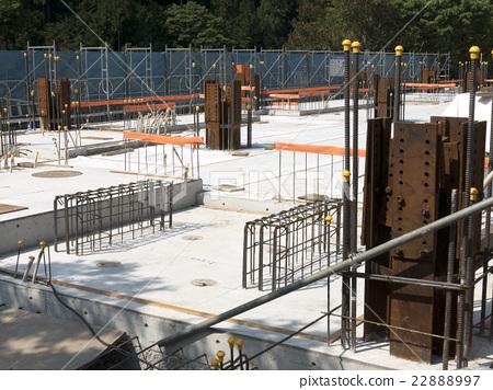 건축 철골 철근 콘크리트 구조 SRC 기초 공사 내진성 구조 22888997