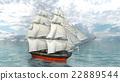 A sail boat 22889544
