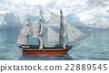 A sail boat 22889545
