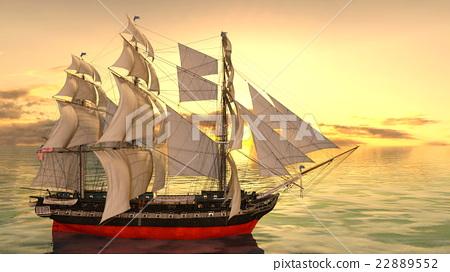 A sail boat 22889552