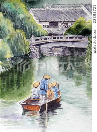 Kurashiki Mikage地區的素描圖片 22893725