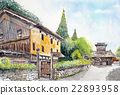Sketch of Hakusan Shiramine District Hokuriku Tourism Sericulture House 22893958