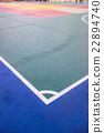 futsal court indoor sport stadium with mark, 22894740
