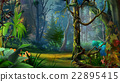 Wild and Dark Tropical Forest. 22895415