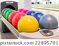 Close-up view of bowling balls 22895701