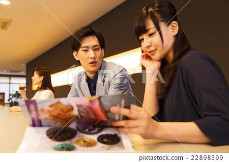 카페 부부 커플 22898399