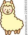 羊駝 動物 矢量 22899103